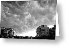 Storm Greeting Card by Silvia Puiu