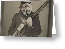 Storm Trooper Star Wars Antique Photo Greeting Card by Tony Rubino