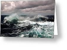 Storm Wave Greeting Card by Boon Mee