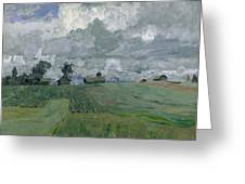 Stormy Day Greeting Card by Isaak Ilyich Levitan