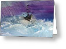 Stormy Seas Greeting Card by Lisa Kaiser