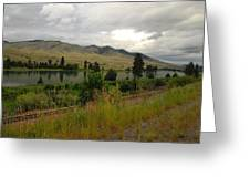 Stormy Skies Over Montana Greeting Card by Larry Moloney