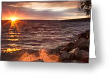 Stormy Sunrise Greeting Card by Michele Steffey