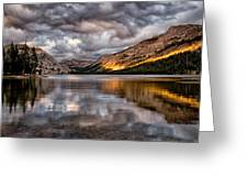 Stormy Sunset At Tenaya Greeting Card by Cat Connor
