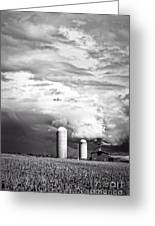 Stormy Weather On The Farm Greeting Card by Edward Fielding