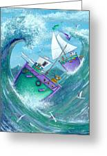 Stormy Weather Greeting Card by Peter Adderley