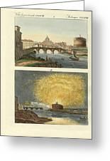 Strange Buildings In Rome Greeting Card by Splendid Art Prints