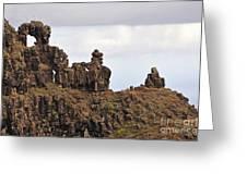 Strange Rock Formation Greeting Card by Sami Sarkis
