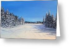 Stratton Intersection Greeting Card by Ken Ahlering