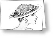 Straw Hat Greeting Card by Sarah Parks