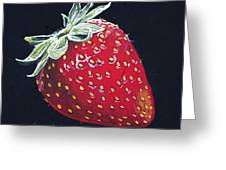 Strawberry Greeting Card by Aaron Spong