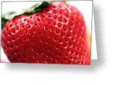 Strawberry Detail Greeting Card by John Rizzuto