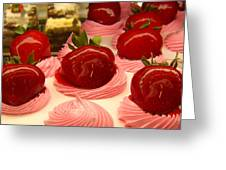 Strawberry Mousse Greeting Card by Amy Vangsgard