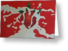 Strawberry Greeting Card by Sven Fischer