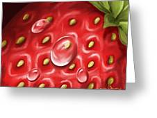 Strawberry Greeting Card by Veronica Minozzi