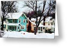 Street After Snow Greeting Card by Susan Savad