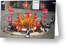 Street Furniture In Beijing Greeting Card by Alfred Ng