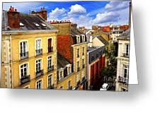 Street In Rennes Greeting Card by Elena Elisseeva