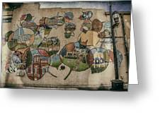 Street Wall In Fort Collins Greeting Card by Lijie Zhou