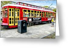 Streetcar On Canal Street Nola Greeting Card by Kathleen K Parker