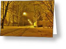 Streetlights Greeting Card by Mikki Cucuzzo