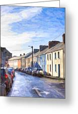 Streets Of Galway On A Winter Morn Greeting Card by Mark Tisdale