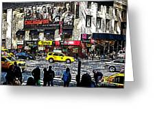 Streets of Manhattan 20 Greeting Card by Mario  Perez