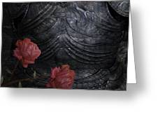 Strength Of A Rose Greeting Card by Jack Zulli