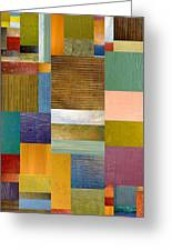 Strips And Pieces Lv Greeting Card by Michelle Calkins