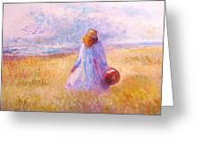 Stroll By The Sea Greeting Card by Martha Sterling
