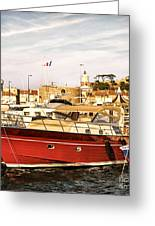 St.tropez Harbor Greeting Card by Elena Elisseeva