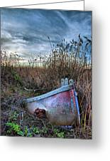 Stuck In The Marsh Greeting Card by Michael  Ayers