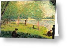 Study On La Grande Jatte Greeting Card by Georges Seurat