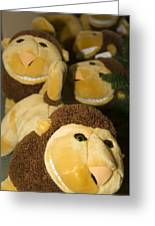 Stuffed Lions Greeting Card by Bob Pardue