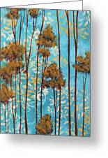 Stunning Abstract Landscape Elegant Trees Floating Dreams II By Megan Duncanson Greeting Card by Megan Duncanson