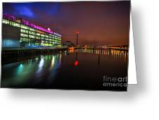 Stunning Bbc Scotland In Glasgow Greeting Card by John Farnan