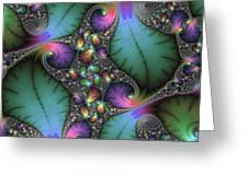 Stunning Mandelbrot Fractal Greeting Card by Matthias Hauser