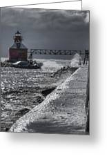 Sturgeon Bay After The Storm Greeting Card by Joan Carroll