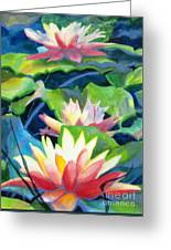 Styalized Lily Pads 3 Greeting Card by Kathy Braud
