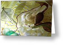 Subtle Colors In Glass Greeting Card by Eunice Miller