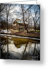 Sugar Shack In Deep River County Park Greeting Card by Paul Velgos