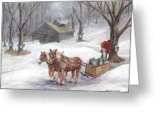 Sugaring Time Again Greeting Card by Gregory Karas