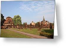 Sukhothai Historical Park - Sukhothai Thailand - 011344 Greeting Card by DC Photographer