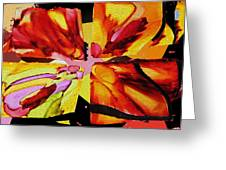 Summer Abstract Greeting Card by Kathy Bassett