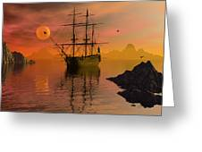 Summer Anchorage Greeting Card by Claude McCoy