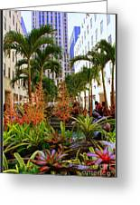 Summer At Rockefeller Center Greeting Card by Photographic Art and Design by Dora Sofia Caputo