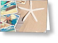 Summer Beach Postcards Greeting Card by Amanda Elwell