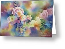 Summer Blooms Greeting Card by Deborah Ronglien