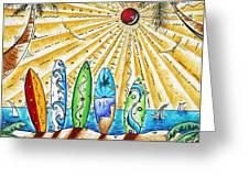 Summer Break By Madart Greeting Card by Megan Duncanson