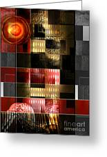 Summer City Nights Greeting Card by Rosy Hall